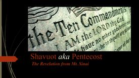 Shavuot aka Pentecost