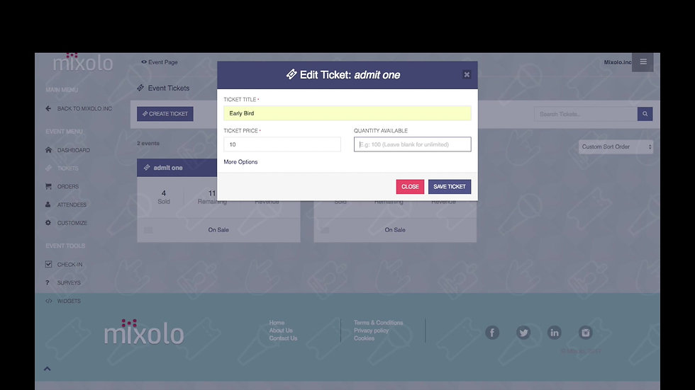 Mixolo Event Dashboard Demo: Building an Event Continued (3 of 6)