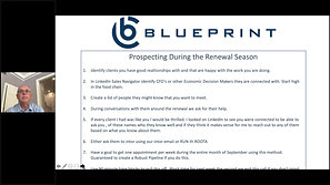 Prospecting in Renewal Season