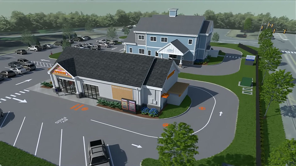 Dunkin' Donuts & Bar Harbor Bank & Trust Now Under Construction at Cook's Corner