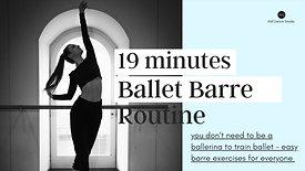 Ballet Barre Routine