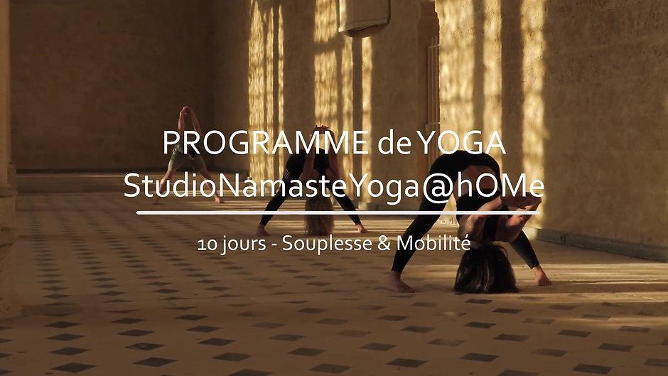 Programme Yoga - 10 jours - Souplesse & Mobilité