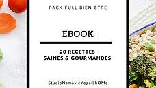 Ebook 20 recettes saines et gourmandes