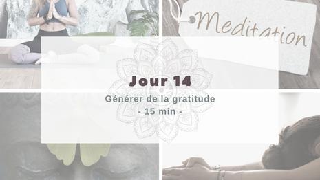 Programme Méditation Générer de la gratitude