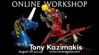 Tony Kaz Glass-Dragon Sculpting