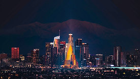 Los Angeles and Mt Baldy