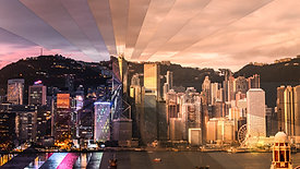 The Downtown Hong Kong Skyline from Kowloon