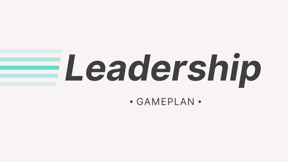 Leadership Part 1- Pastor Matt Higa