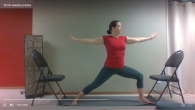 30 min standing practice