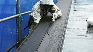 立平葺きハンドカッターによる切断