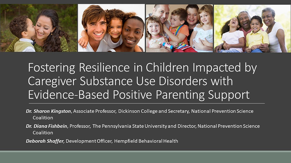 Fostering Resilience in Children Impacted by Caregiver Substance Use Disorders with Evidence-Based Positive Parenting Support