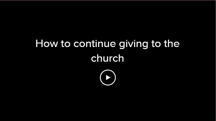 How to continue giving to the church