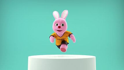 Duracell Bunny poses