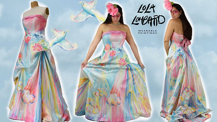HAND PAINTED GOWN EVOLUTION