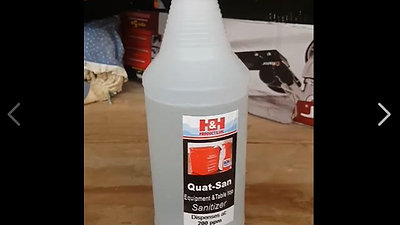 Sanitizer use and test