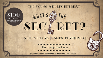 """Young Adults Retreat 2019: """"The Secret"""""""