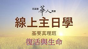 11/29 線上主日學 - 復活與生命