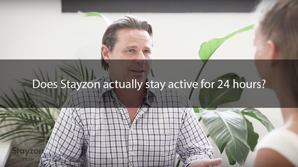 Does Stayzon actually stay active for 24 hours?