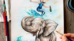 """Making of """"The Elephant Surf"""""""