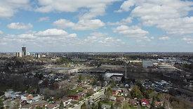 Cumulus Clouds Over City