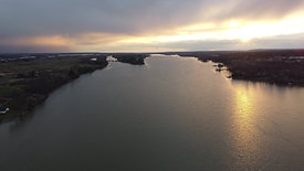 Sunset Pan Over River