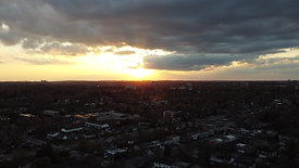 Sunset Viewed from Drone