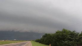 Large Shelf Cloud In Texas