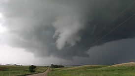 Large Rotating Funnel Cloud