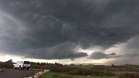 Supercell Over Mountains