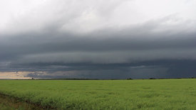 Stormy Skies Above Field