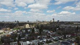 City and Cumulus Clouds