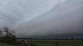 Shelf Cloud in Manitoba