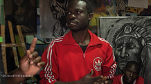 Artist and Youth in Kibera