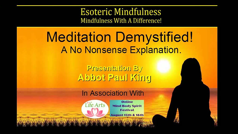 Meditation Demystified - Part 1