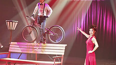 1.Trial Bike show act by circus artist unit Serghei & Rika