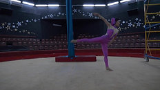 2Aerial circus show act by professional circus artist Rika