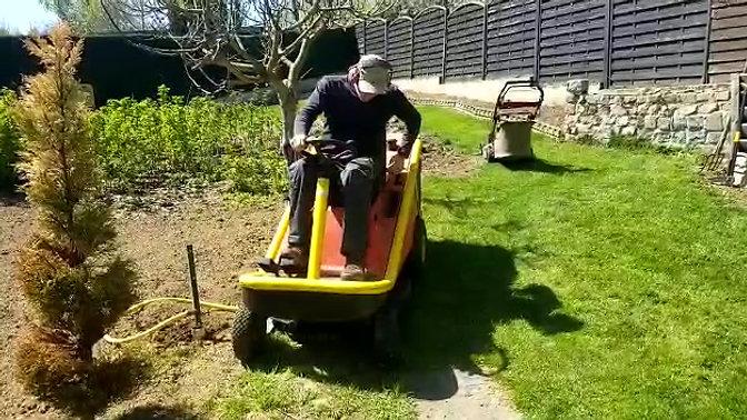 Demo large lawn mower