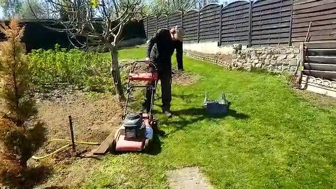 Demo small lawn mower
