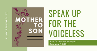 2.7.21: Mother to Son - Speak Up for the Voiceless