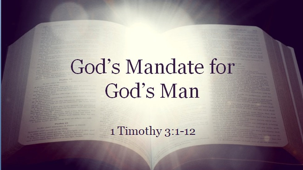 God's Mandate for God's Man
