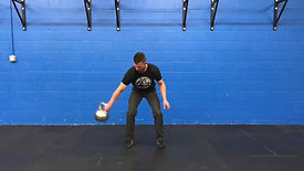 One Hand Rotational Clean (Bottoms Up)