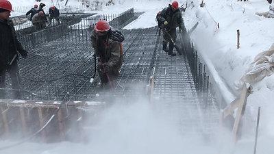 """Подготовка к бетонированию зимой ГК """"Урал-Строй"""""""