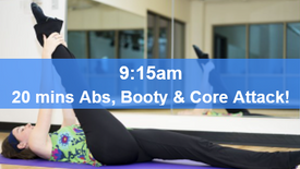 11/05/21 20 mins, Abs, booty and core attack.