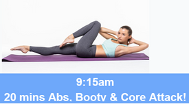30/04/21 20 mins, Abs, booty and core attack.