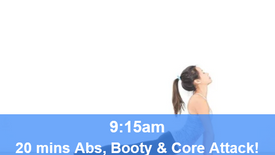 18/05/21 20 mins, Abs, booty and core attack.