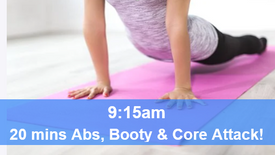 25/05/21 20 mins, Abs, booty and core attack.
