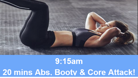 27/04/21 20 mins, Abs, booty and core attack