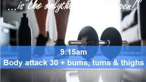 22/04/21 body attack 30, plus Bums Tums Thighs.