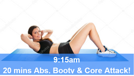 20/04/21 20 mins, Abs, booty and core attack.