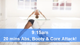 08/05/21 20 mins, Abs, booty and core attack.